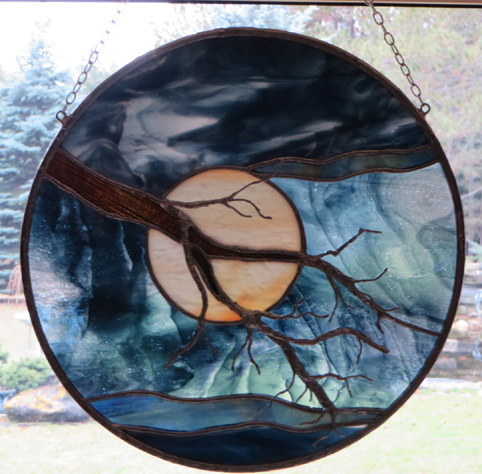 The serenity Tree by Stained Glass Artist Yvonne DeViller