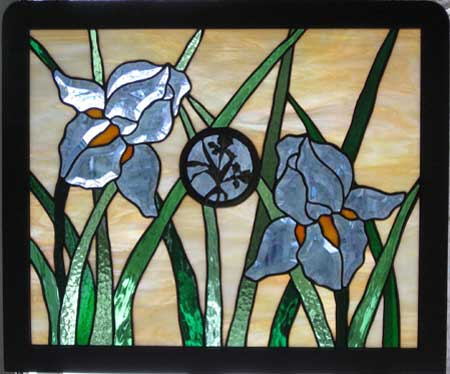 Just a Twinkle in their Eye_ris by Stained Glass Artist Yvonne DeViller