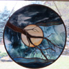 The serenity Tree repro by Stained Glass Artist Yvonne DeViller