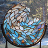 Soul of a wave by Stained Glass Artist Yvonne DeViller