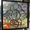 Amethyst flowers Sold by Stained Glass Artist Yvonne DeViller
