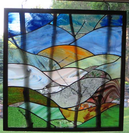 Before or After at Sunset by Stained Glass Artist Yvonne DeViller