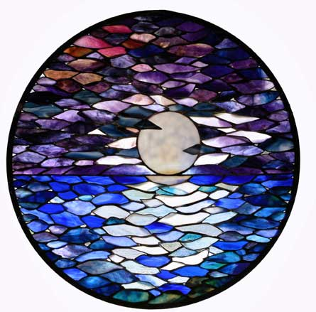 Breaking Through by Stained Glass Artist Yvonne DeViller