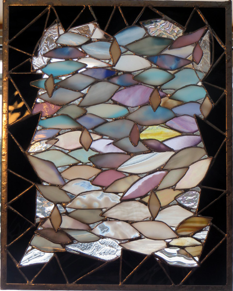 Winter Expressions  by Stained Glass Artist Yvonne DeViller