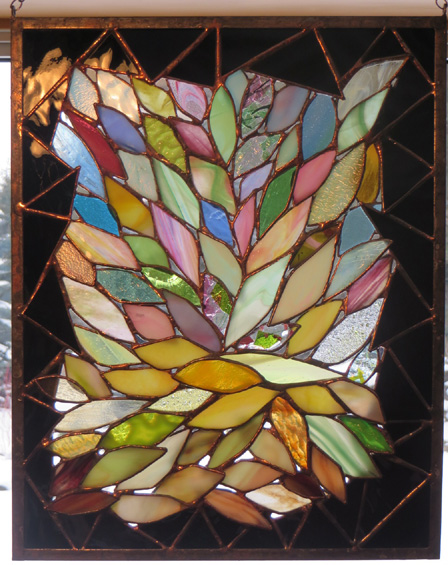 Summer Expressions  by Stained Glass Artist Yvonne DeViller