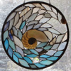 Underwater Gems in the Wave,  by Stained Glass Artist Yvonne DeViller