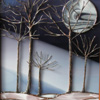 Trees in Winter Night by Stained Glass Artist Yvonne DeViller