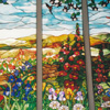 English Country Garden by Stained Glass Artist Yvonne DeViller